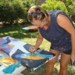 Malen - im Garten von Maria und Edi