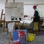 Im Atelier, Kunstakademie Geras, Teichhaus