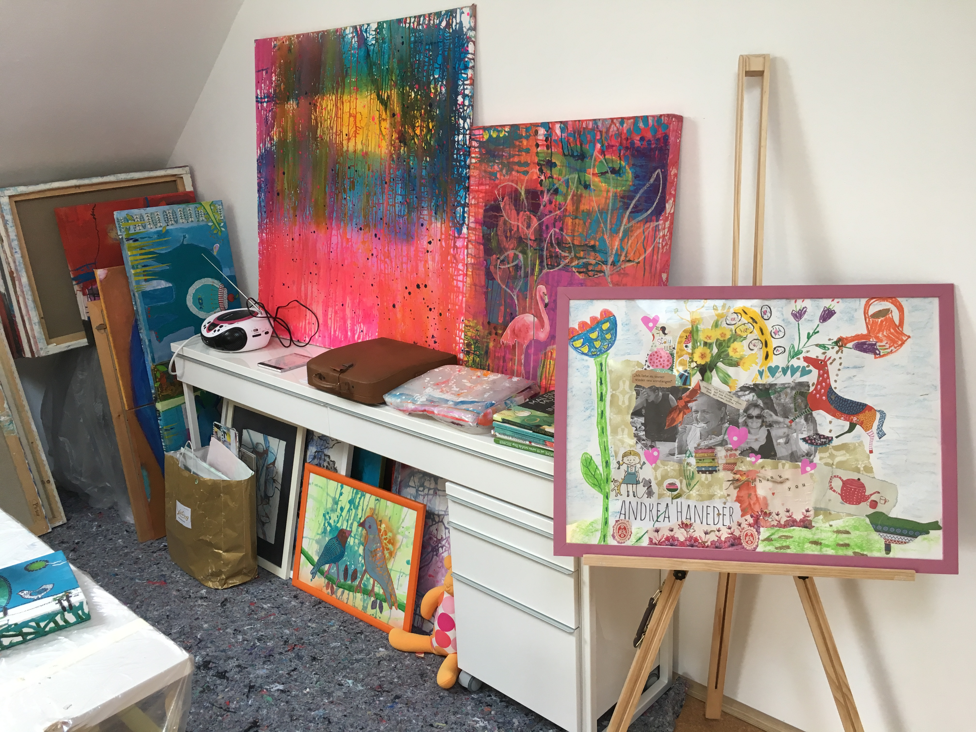 Umgebung im Atelier